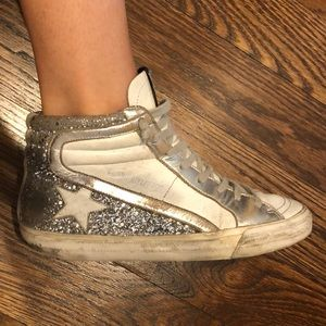 Private Edition Golden Goose Silver Slide Sneakers